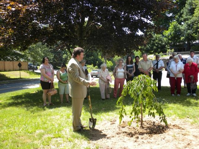 Dedicating Memorial Garden